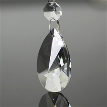 Koraliki kryształowe 38mm 50mm pryzmaty żyrandolowe wyczyść K9 Crystal Tear Drop Suncatchers wiszące na żyrandol dekoracja na przyjęcie ślubne tanie tanio 80mm Kryształowy żyrandol Crystal chandelier parts Clear Cystal chains for wedding decoration Crystal hanging pendant for lighting