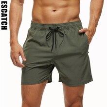 Escatch бренд 2021 мужские эластичные плавки быстросохнущие пляжные шорты с карманами на молнии и сетчатой подкладкой ES801