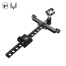 "Topoint Archery Target Bow Sights 1 Pin 0.059"" Compound Bow Recurve Bow Sight with Micro Adjust Long Pole for Hunting Shooting"