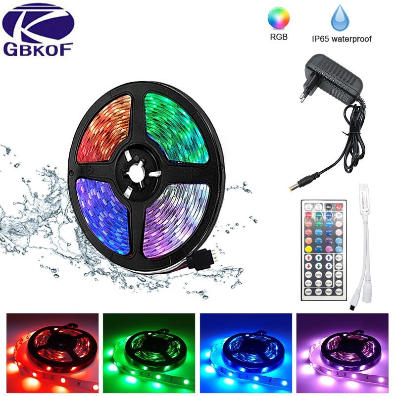 LED Strip Light RGB 5050 SMD 2835 DC12V  5M 10M WiFi Flexible RGB LED Stripe Ribbon Diode Backlight For Home Room  Kitchen Party