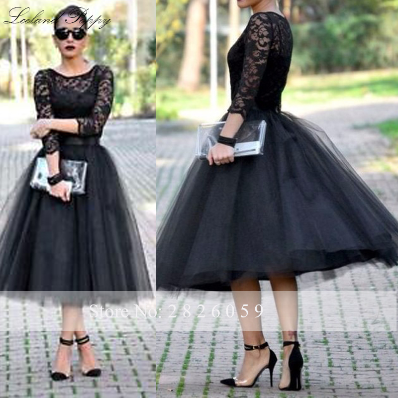 Mega Sale Womens A Line Scoop Neck Black Vintage Lace
