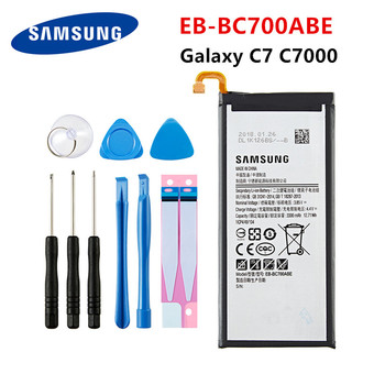 SAMSUNG Orginal EB-BC700ABE 3300mAh Battery For Samsung Galaxy C7 C7000 C7010 C7018 C7 Pro Duos SM-C701F/DS SM-C700 +Tools replacement bateria bl 5k battery for nokia c7 n85 n86 n87 x7 00 c7 00 c7 x7 battery 5k bl5k