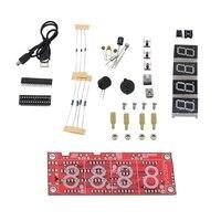 4 dígitos ds1302 display led diy kit de relógio de precisão inteligente para arduino|Tela de exibição| |  -