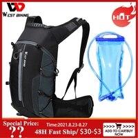 WEST BIKING-bolsas para bicicleta, 10L, impermeables, portátil, de Carretera Ciclismo, para deportes al aire libre, escalada, hidratación