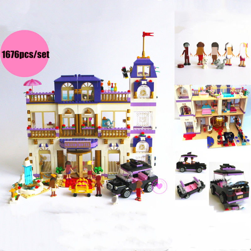 New Friends Series Heartlake Grand Hotel fit Friends figures city Model Building Blocks Bricks diy toys girl kid gift