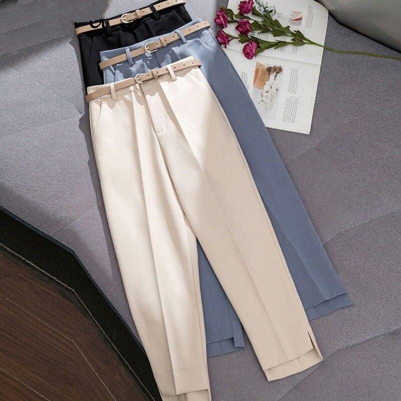 Trousers Women 2019 New Ankle-length   Capris   Female Leggings Pantalon Femme Workwear Slim High Waist Elastic Casual Woman   Pants