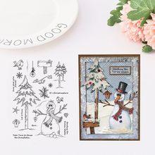 Рождество снеговик силиконовый прозрачный печать штамп DIY Скрапбукинг рельефная фотография альбом декоративные бумажные карты Ремесло Искусство