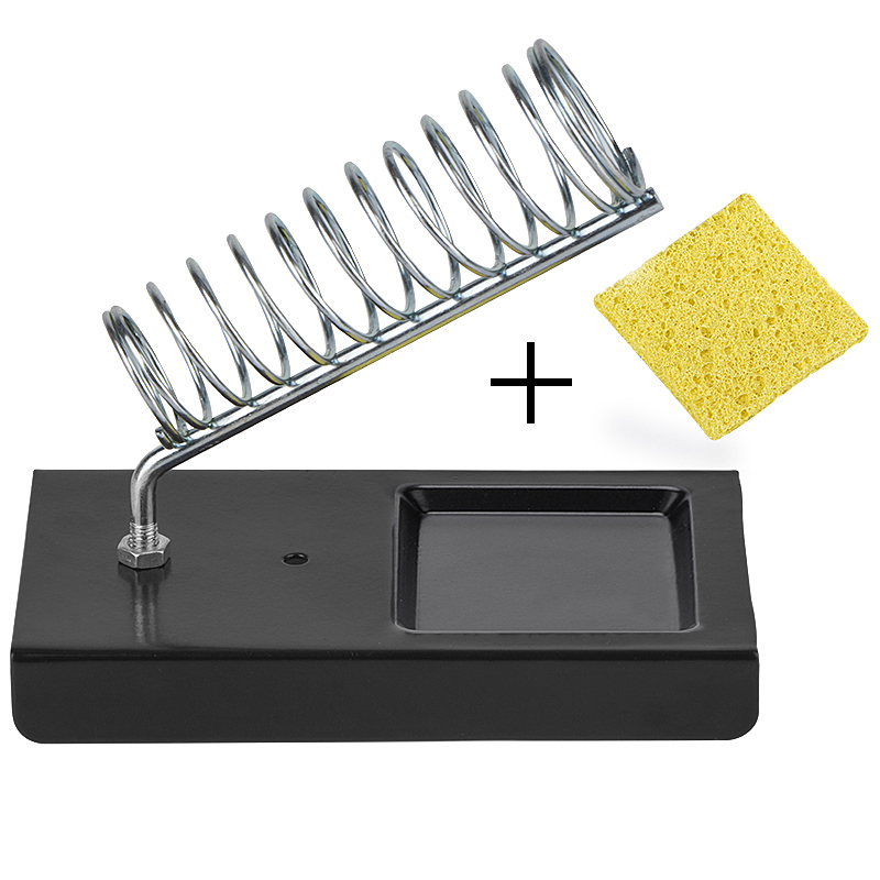 WMORE Soldering Iron Stand Holder With Cleaning Sponge Metal Pads Generic High Temperature Resistance Welding Solder Iron Stand