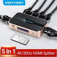 Vención de La divisor HDMI 5 en 1 4K/30Hz HDMI 5x1 3x1 Adaptador para XBOX 360 TV Mi caja de interruptor de PS5 PS4 3 en 1 HDMI 1,4 conmutador