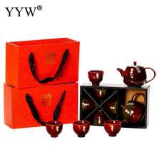 Chinese Tea Ceremony Tea Suit Traditional Chinese Kung Fu Tea Set Portable Teaset Teacups Porcelain Water Cup Kettles Home Decor стоимость