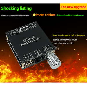 Image 3 - XY C50L 3.5MM USB uygulaması MINI Bluetooth 5.0 50w + 50w kablosuz ses dijital güç amplifikatörü Stereo kurulu Bluetooth amp Amplificador