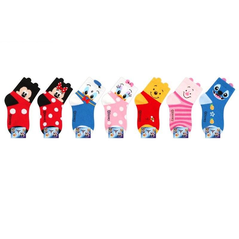 2-12Year Jacquard Mickey Minnie Comfort Warm Cotton High Quality Kids Girl Baby Socks Child Boy children Socks 2