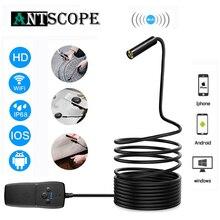 Antscope wifi endoscópio câmera de foco automático 1944 p hd mini endoscópio à prova d4água inspeção câmera 4led para ios/android 24