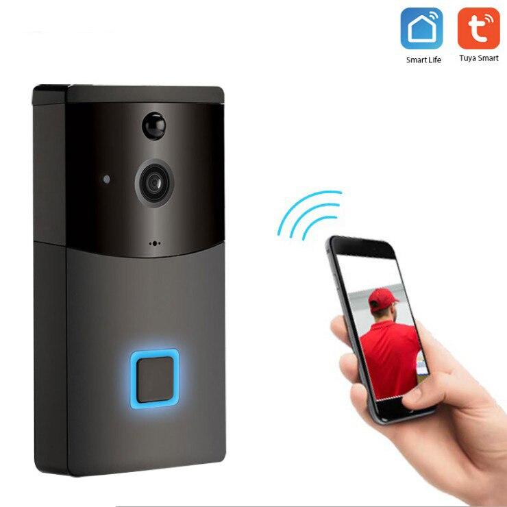 Wireless Smart Wifi Video Doorbell Intercom 1080P Camera Night Vision Pir Motion Sensor Tuya Smart Life App Battery Not Include