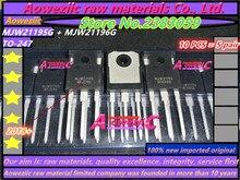 Aoweziic 2018 + (10 Uds = 5 pares) 100% nuevo importado original MJW21195 MJW21196 MJW21195G MJW21196G TO 247 tubo amplificador de potencia