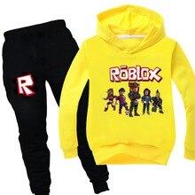 Outfits Robloxing Clothing Suits Kids Children Autumn Toddler Boys Pants 2pcs Hoodies