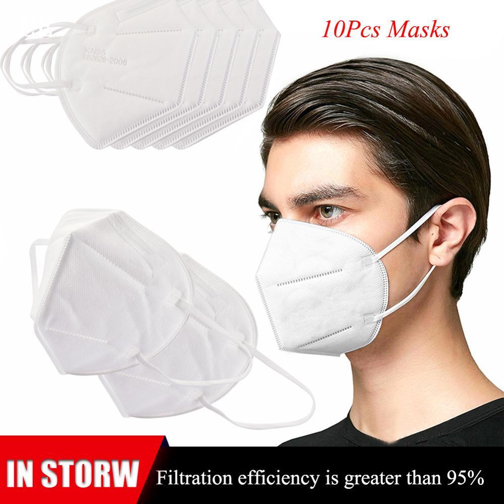 10 Pcs 4-Layer Protective Masks Antiviral Outdoors Sport Face Mask Anti-fog Anti-particles PM 2.5 Running Cycling Mask