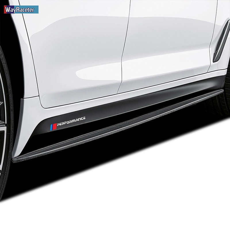 2 Pcs M Performance Door Side Skirt Sticker Decal For BMW F20 F40 F22 F30 E90 F32 F10 F07 X5 X6 M3 M4 M5 E60 Z4 G20 F15 F16 G30