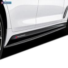 M эффективная дверная боковая юбка Наклейка для BMW F20 F40 F22 F30 E90 F32 F10 F06 F07 F46 M3 M4 M5 E60 Z4 G20 F15 F16 G30 X1