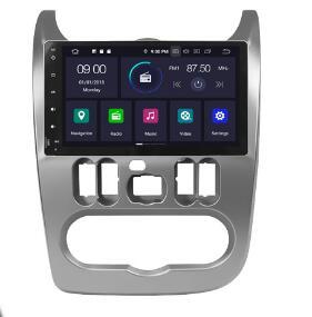 4G Modem Android9.0 8 Core 9inch Radio Android Car GPS For Renault Logan I Sandero Lada Lergus Dacia Duster Silver Colour