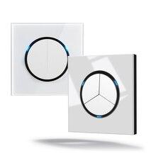 ZUCZUG Led ライトスイッチ 1 2 3 プッシュボタン壁スイッチアルミ合金ガラスパネルスイッチインタラプタホーム 16A 標準