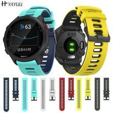 YAYUU 20 мм силиконовый ремешок для часов для Garmin Forerunner 245 245M 645 Vivoactive 3 Браслет Смарт-часы браслет спортивный браслет