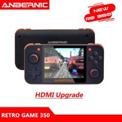 ANBERNIC RG350 IPS Retro Games 350 consola de videojuegos actualización 64bit opendingux HDMI TV 2500 + games RG350 PS1 emuladores 16G