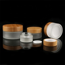 50 шт* 100 г 50 шт* 50 г+ бамбуковая стеклянная баночка для косметики для крема для лица упаковка стеклянная банка с крышками бамбуковая матовая прозрачная бамбуковая бутылка