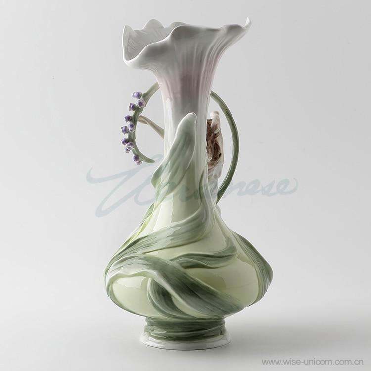 Creative Decoration Ceramic Glaze Under The Color Vase Beauty Hand Hyacinth Birthday Gift Home Ornaments