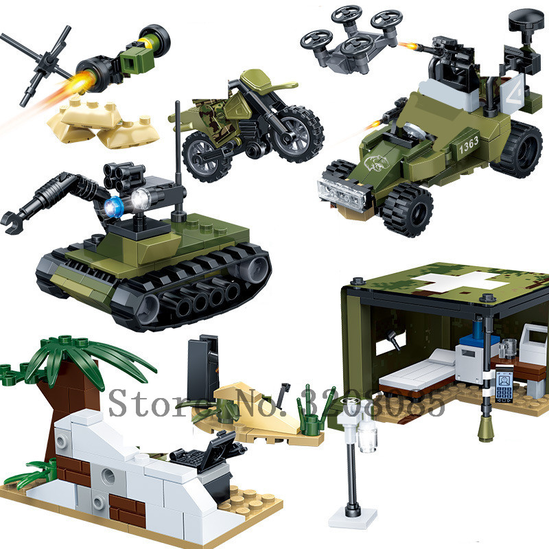 Military Series Armored Car Helicopter SWAT Tank Army Vehicle ...