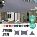 Wasserdichte Sonnenschutz Segel 98% UV block Baldachin Markise Dreieck Rechteck 3m * 3m/3,6 m * 3,6 m/2m * 3m/4m * 3m FÜR Garten Rasen Terrasse 40% OFF
