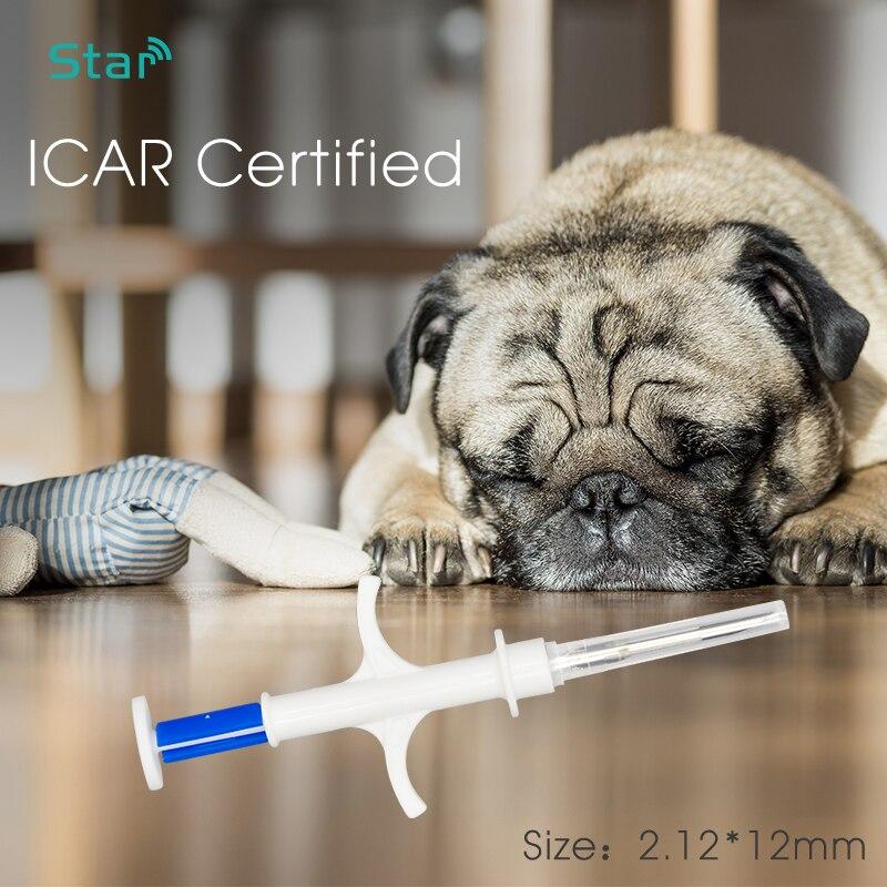 40pcs ISO11784 FDX-B standard Animal microchip rfid syringe 2.12*12mm Dog chips 134.2KHz pet injector sterile cat sheep syringe