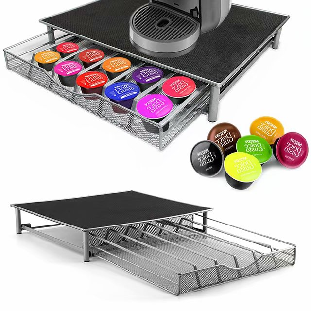 CellDeal 36 Pcs Coffee Pod Stand Rack Holder Storage Drawer Non Slip Dolce Custo Capsule Holder Capsules Organizer