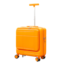 2021 New Design Small Hand-Held Rolling Luggage Trolley Business Luggage Suitcase With Open Case Laptop Bag On The Front