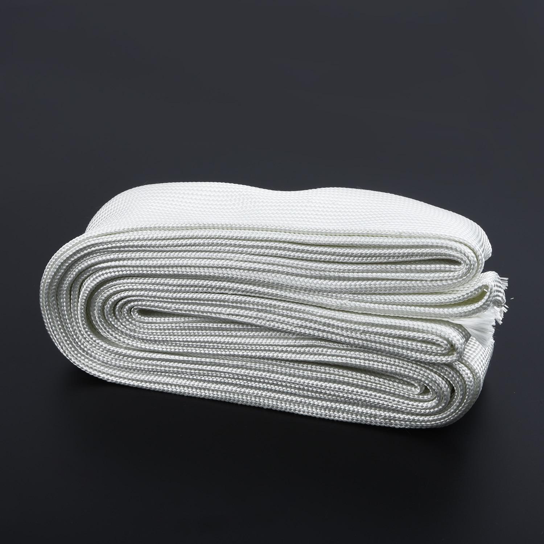 1 Pc Glass Fiber Hose For Webasto/Eberspacher Lagging Insulation White 2M|Exhaust  Assembly| |  - title=