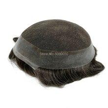 new base design stock remy hair Toupee lace around pu Men Toupee