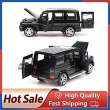 1:32 alaşım geri çekin Model araba modeli oyuncak ses işık geri çekin oyuncak araba için G65 SUV AMG oyuncaklar erkek çocuk hediye