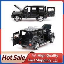 1:32 alliage retirer modèle de voiture modèle jouet lumière sonore tirer arrière jouet voiture pour G65 SUV AMG jouets pour garçons enfants cadeau