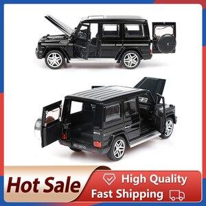 Image 1 - 1:32 stop wycofać Model Model samochodu zabawka dźwięk światło wycofać zabawka samochód dla G65 SUV AMG zabawki dla chłopców dzieci prezent