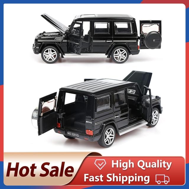 1:32 stop wycofać Model Model samochodu zabawka dźwięk światło wycofać zabawka samochód dla G65 SUV AMG zabawki dla chłopców dzieci prezent