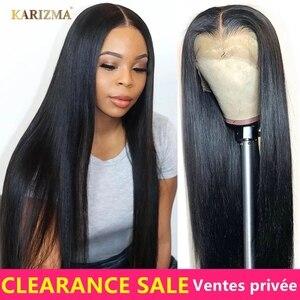 Парики из человеческих волос на сетке 13X4, 30 дюймов, предварительно выщипанные прямые передние искусственные бразильские прямые передние па...