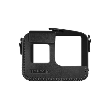 TELESIN Camera Protective Case Shell Cover PU Leather Compatible with GoPro Hero 8 Action Camera camera bag tanie i dobre opinie Uniwersalny Pakiet trójkąt Other