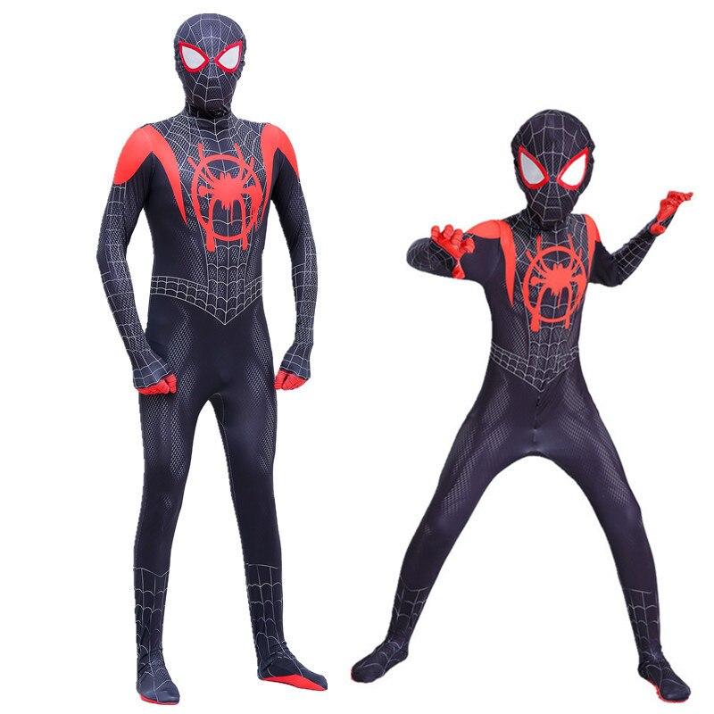 Spider Boy Parallel Universe New Era Little Black Spider Siamese Tights Meyer Cosplay Adult Children's Mask Halloween Costume