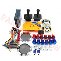 2222 IN 1 jamma arcade kits 2 Player arcade machine complete set parts kit with arcade LED buttons/joystick for pandora box 9D