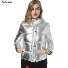 Reflective Winter Jacket Silver Bubble Puffer Parka Hooded Cold Short Padded Coat Winter 2019 New Plus Size Winter Jacket Women цена и фото