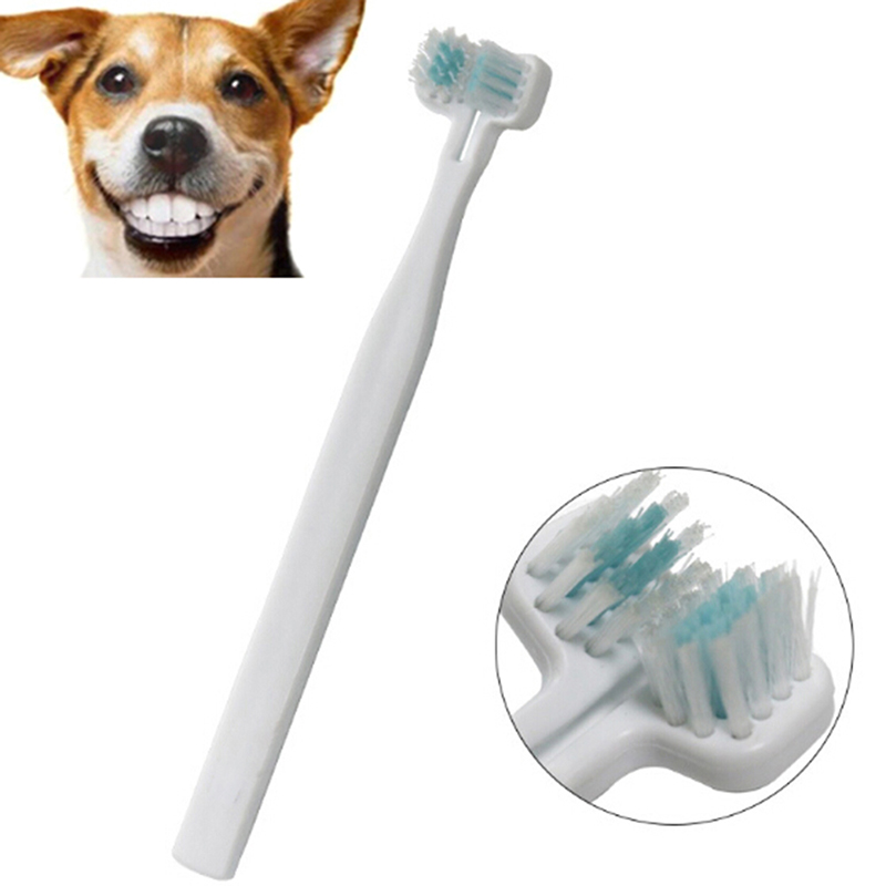 Dog Toothbrush Double Heads Teeth Brushing Cleaner Pet Breath Freshener Oral Care for Dog Cats Best Price image