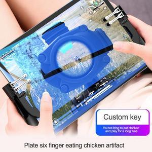 Image 5 - 1 זוג Pubg בקר עבור iPad 6 אצבעות המטרה מפתחות משלוח אש L1R1 הדק עבור Pubg יד גריפ Gamepad עבור אנדרואיד/iOS החכם Tablet
