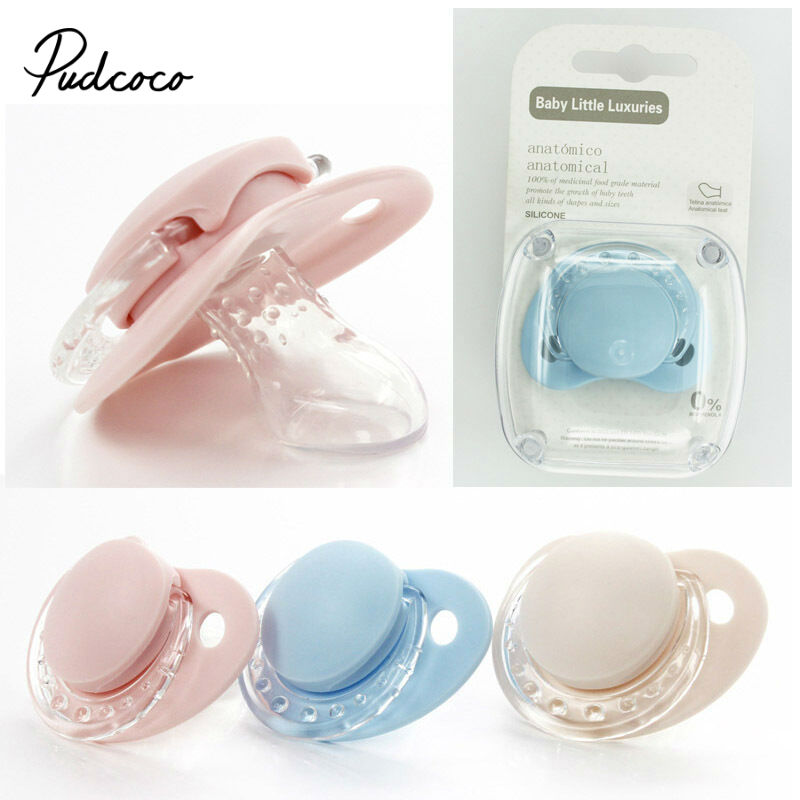 Pudcoco 2020 Newborn Cute Silicone Pacifiers Infant Pacifier Holder Clip Baby Pacifiers Nipples Children Pacify S M For 0-36M
