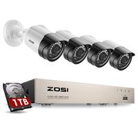 Nuevo Sistema de cámaras de seguridad ZOSI 8CH 1080p H.265 + TVI CCTV DVR con 4x2,0 mp, Kits de cámaras de seguridad, sistema de videovigilancia para el hogar
