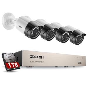 Image 1 - System kamer bezpieczeństwa ZOSI 8CH 1080p H.265 + TVI CCTV DVR z 4x2.0mp kamery bezpieczeństwa zestawy wideo z domu System nadzoru